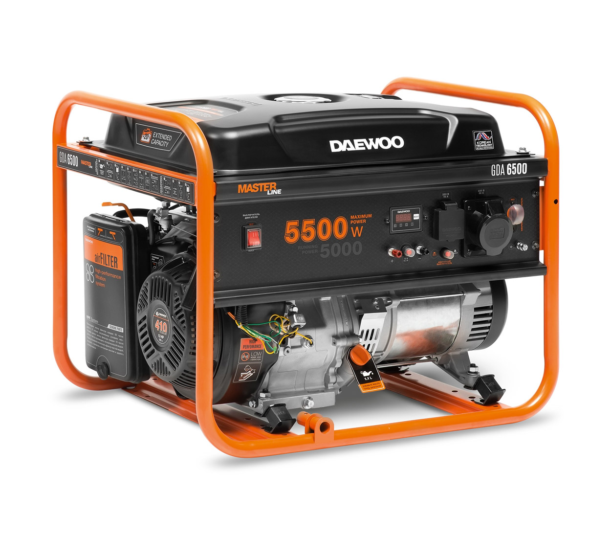 Бензиновый генератор (Бензогенератор) DAEWOO GDA 6500