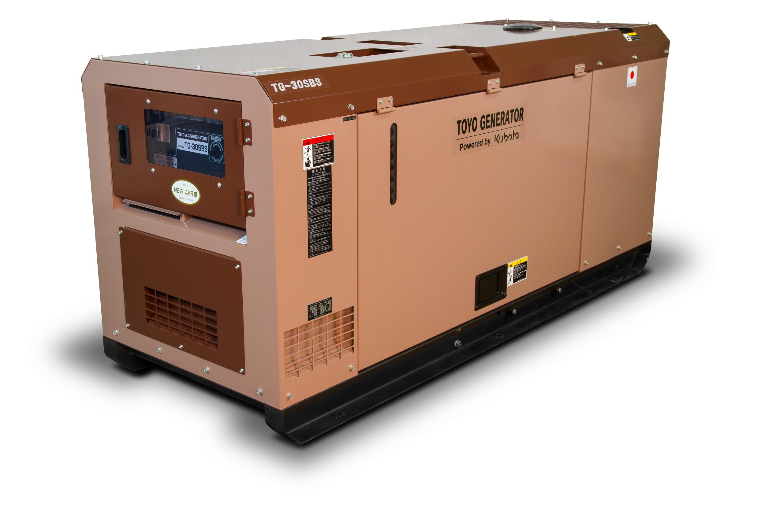 Дизельный генератор (электростанция) TOYO TG-30SBS